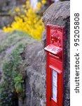 British Red Post Box With...