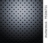 Grid with round dots - stock vector