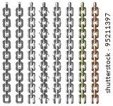 vector realistic chain set | Shutterstock .eps vector #95211397