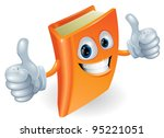 a happy book cartoon character... | Shutterstock .eps vector #95221051