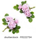 abstract flowers frame ... | Shutterstock . vector #95222734