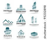 building icon set. abstract... | Shutterstock .eps vector #95232898