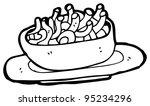 bowl of noodles cartoon | Shutterstock . vector #95234296