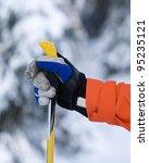 Hand And Ski Pole With...