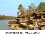 shore of the river. | Shutterstock . vector #95236840
