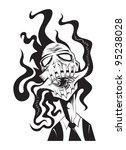 zombie scream | Shutterstock . vector #95238028
