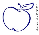 Apple Shape Made In Blue....