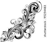 swirl corner black design... | Shutterstock .eps vector #95254483