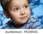 little boy in studio shooting | Shutterstock . vector #95258431