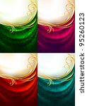 set color fabric curtain with... | Shutterstock .eps vector #95260123