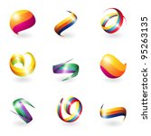 abstract 3d elements | Shutterstock .eps vector #95263135