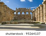 Small photo of Ruins of ancient hellenic city Selinunte Temple E. Selinunte- most westerly Hellenic colony of Greece in Sicily. Founded in 650 BC by colonists from Megara Hyblaea and destroyed probably by earthquake