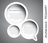speech bubble | Shutterstock .eps vector #95264497