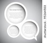 speech bubble | Shutterstock .eps vector #95264503