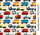 seamless truck pattern   Shutterstock .eps vector #95276137