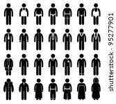 people man male fashion wear... | Shutterstock . vector #95277901