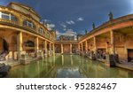 A Panorama Of The Roman Baths...