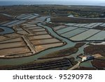 Aerial View Of Fish Farms And...