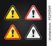 hazard warning attention sign... | Shutterstock .eps vector #95293549