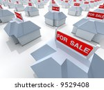 the real estate crisis . 3d... | Shutterstock . vector #9529408