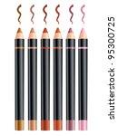 cosmetic pencils | Shutterstock .eps vector #95300725