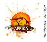 african sunset | Shutterstock .eps vector #95304679