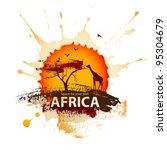 african sunset | Shutterstock .eps vector #95304679