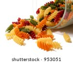 Colorful Pasta In A Glass Jar...