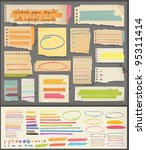 notebook  paper  objects  ... | Shutterstock .eps vector #95311414