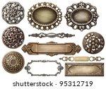 vintage metal frames  buttons ...