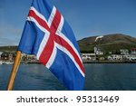 Isl Ndische Flagge Auf Bboot