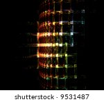 3d Matrix Grid Opart Fractal...