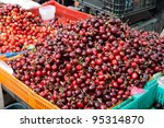 fresh cherries in box  at a... | Shutterstock . vector #95314870