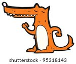 dancing fox cartoon  raster... | Shutterstock . vector #95318143