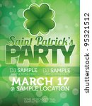 saint patricks day party poster | Shutterstock .eps vector #95321512