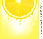lemon segment with juice and... | Shutterstock .eps vector #95335555