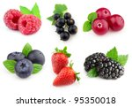 collage from berries | Shutterstock . vector #95350018