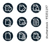 document web icons set 2 ... | Shutterstock .eps vector #95351197
