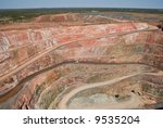 Large Open Cut Copper Mine At...