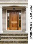 wooden front door showing... | Shutterstock . vector #95352802