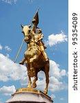 Joan Of Arc Golden Statue