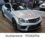 TORONTO-FEBRUARY 16: AMG C63 Coupe Black Series on display at the 2012 Canadian International Auto Show on February 16, 2012 in Toronto, Canada. - stock photo