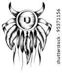 native americans   Shutterstock .eps vector #95371156
