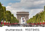 Arc De Triomphe Viewed Up The...