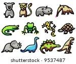 animals illustrations 6 | Shutterstock .eps vector #9537487