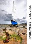 Hdr Of A Sailing Boat At Low...