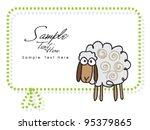 sheep   baby lamb | Shutterstock .eps vector #95379865