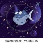pisces zodiac sign. fish   Shutterstock . vector #95383345