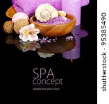 spa in black | Shutterstock . vector #95385490