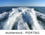 Wake Of A Passenger Ship In A...
